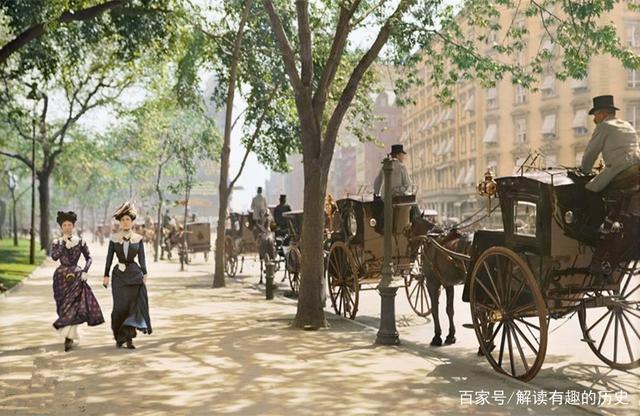 晚清时期的美国:难以想象这是百年前的美国,图7李鸿章访问纽约